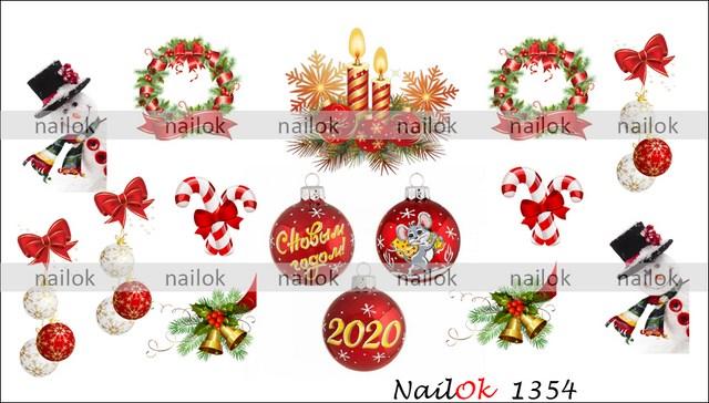 Слайдер-дизайн зимний, новогодний NailOK 1354